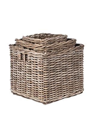 Skalny Set of 3 Rattan Storage Baskets
