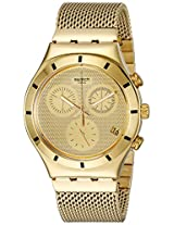 Swatch Unisex YCG410GA Irony Analog Display Swiss Quartz Gold Watch