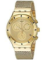 Swatch Unisex YCG410GA Irony Analog Display Swiss Quartz Gold Watch