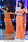 Bollywood Replica Madhuri Dixit Net Saree In Orange Colour 9063