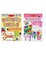 Melissa & Doug Scissor Skill Activity Pad And Cut Crease Create 3 D Sculpture Pink