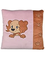 Twisha Dog Side Print Pillow 13 X 13 X 3 Inch
