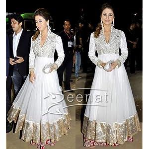 Bollywood Replica hot urmila matodkar white color anarkali salwar suit