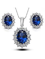 Crunchy Fashion Blue Sapphire Jewel Set
