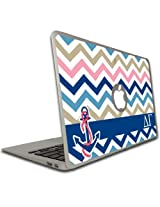 Delta Gamma MacBook Air or Pro (13 inch) Vinyl Skin - Chevron Stripe Design