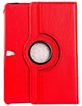 Purple Eyes Generic 360ø Rotator Leather Flip Cover for Samsung Galaxy Tab S 10.5 inch T800 T805 - Red