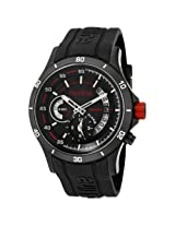 red line Men's 50021-BB-01 Tech Black Dial Black Silicone Watch