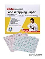 "Oddy Uniwraps Food Wrapping Paper Pre-Printed (Green+Red) Color Print For Restaurants (11"" X 13"") = 5000 Sheets Pack"
