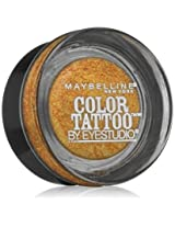 Maybelline New York Eye Studio Color Tattoo Metal 24 Hour Cream Gel Eyeshadow, Gold rush, 0.14 Ounce (Pack of 2)