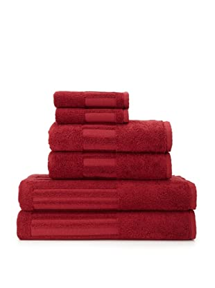 Garnier-Thiebaut 6-Piece Bath Towel Set (Bordeaux)