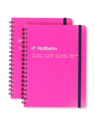 Sweet Bella Set of 2 Rollbahn Spiral Notebooks (Rose)