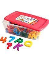 Educational Insights Multicolored Jumbo AlphaMagnets & MathMagnets, 100 Pieces