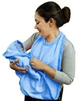 Extra Large Hands Free Absorbent Hooded Towel, Blue By Frenchie Mini Couture