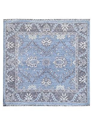 Kalaty One-of-a-Kind Pak Square Rug, Blue, 3' 1
