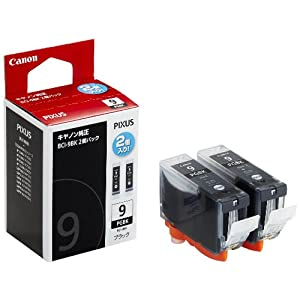 【クリックでお店のこの商品のページへ】Canon キヤノン 純正 インクカートリッジ BCI-9 ブラック 2個パック BCI-9BK2P: パソコン・周辺機器
