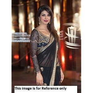 Priyanka Chopra Morocco Black Net Saree Replica