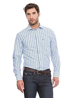 Pedro del Hierro Camisa Vestir Rayas anchas (Azul)
