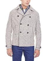 GAS Men's Solid Wool Blend Coat