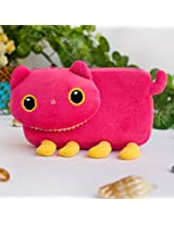 [Pink Kitty] Medium Plush Gadget Cosmetic Bag / Camera bag / Hand Purse Wallet (6.1*3.5*1.5)