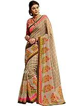 Sapphire Fashions Women's Multicoloured Silk Saree