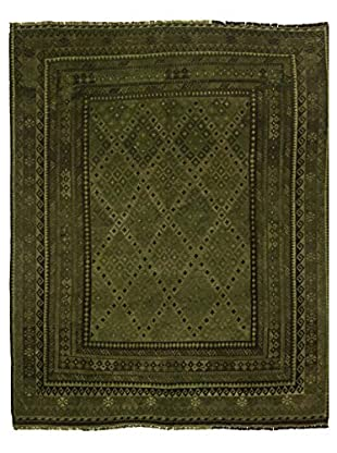 nuLOOM One-of-a-Kind Hand-Knotted Vintage Overdyed Kilim Rug, Olive, 8' 2