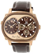 Joshua & Sons Men's JS729BR Dual Time Multi-Function Watch