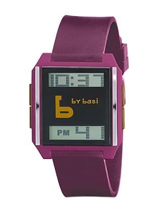 BY BASI A0861U04 - Reloj Unisex movi cuarzo correa poliuretano burdeos/mostaza