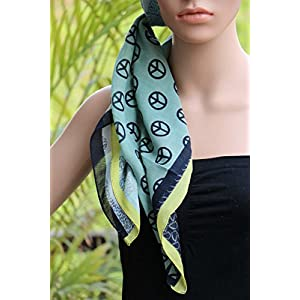 Insyync Printed Green Square Scarf