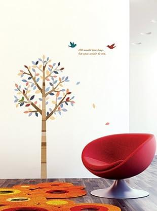 Ambiance Live Wandtattoo Tree and birds mehrfarbig