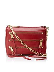 Rebecca Minkoff Women's Carmen Mini Zip Shoulder Bag, Red