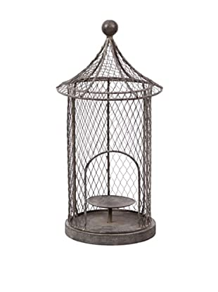 Winward Birdcage Lantern, Antique Grey