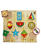 Skillofun Kingsize Identification Tray Shapes with Knobs, Multi Color