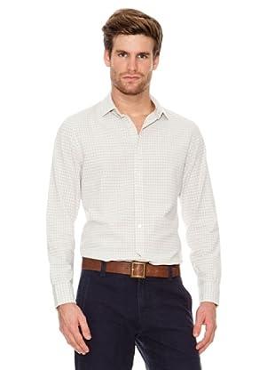Dockers Camisa Cuadros desgastada (gris)