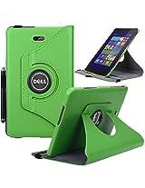 Dell Venue 8 Pro Case, E LV Dell Venue 8 Pro Case Cover 360 rotating Lightweight case for Venue 8 Pro 32GB 64GB Tablet (Windows Tablet) (will only fit Dell Venue 8 Pro tablet) - GREEN