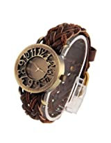 TARSA Hollow Brown Analog Gold Dial Women's Watch