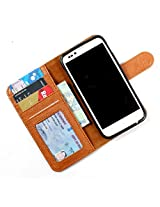 For Micromax Canvas Doodle A111 - PU Leather Wallet Flip Case Cover