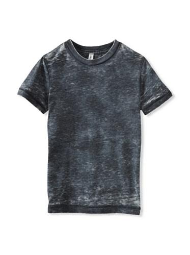 Colorfast Apparel Boy's Burnout/Tye Dye Crew (Charcoal/Black)