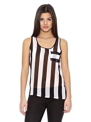 Springfield Blusa Hor Stripes Blouse (Negro / Blanco)