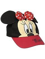 ABG Accessories Girls' Minnie Mouse 3D Bow Baseball Cap, Red, Girls
