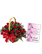 30 Roses With Free Card EF5643
