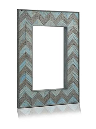 Shine by S.H.O. Parker Rectangular Mirror (Ocean Elm/Antique Elm)