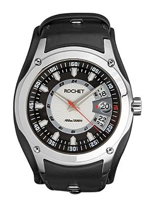 Rochet W205012 - Reloj de Caballero movimiento cuarzo con correa de piel Negro