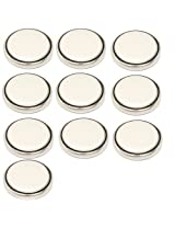 HQRP 10 Pack Lithium Coin Remote Key Battery fits CHEVROLET ASTRO 1997 1998 1999 2001 2002 2003 2004 plus HQRP Coaster