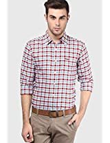 Red Check Regular Fit Casual Shirt Wrangler