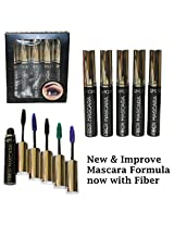 5 Color Set Of Waterproof Length Volume Mascara Doll Eye Style (Black, Blue, Green, Purple, Charcoal)