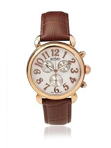 Ritmo Mundo Men's Luna Round Brown/White Stainless Steel Watch