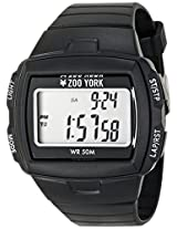 Zoo York Men's ZY1239 Core Street Digital Display Analog Quartz Black Watch