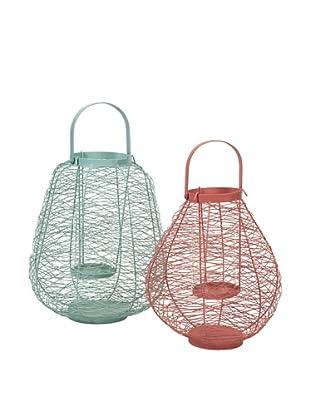 Set of 2 Palermo Wire Lanterns