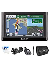 Garmin nuvi 55LM Essential Series GPS Lifetime Maps Essentials Bundle. Includes GPS, Car Windshield Mount Holder, International 2 Socket Cigarette Lighter Adapter, Deluxe Carrying Case, Touch Screen Stylus Pen with Pocket Clip, and Screen Protectors for LCD's