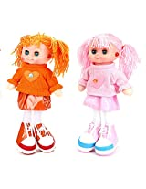Tickles Orange,Pink Gorgeous Doll Stuffed Soft Plush Toy Love Girl 35 cm